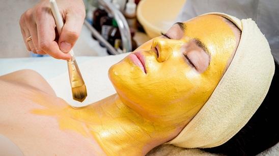 Radiotalasni lifting lica sa zlatnim masažerom i maskom 24 karatnog zlata!