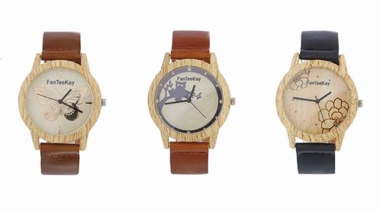 Drveni ženski ručni sat!