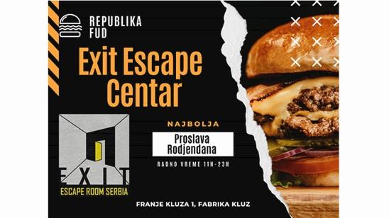 Proslava rođendana u Escape sobi Nestali kuglaš i 6 burger obroka!